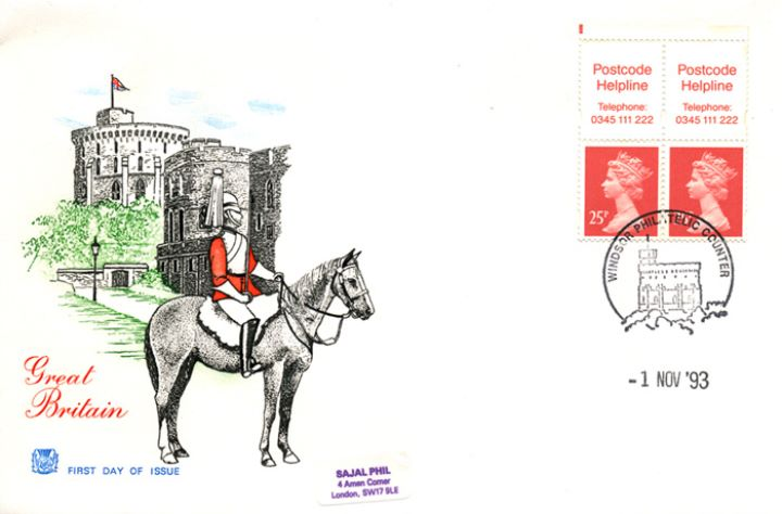Vending: New Design: 50p Postal Hist 4 (Paid pmks), Windsor Castle