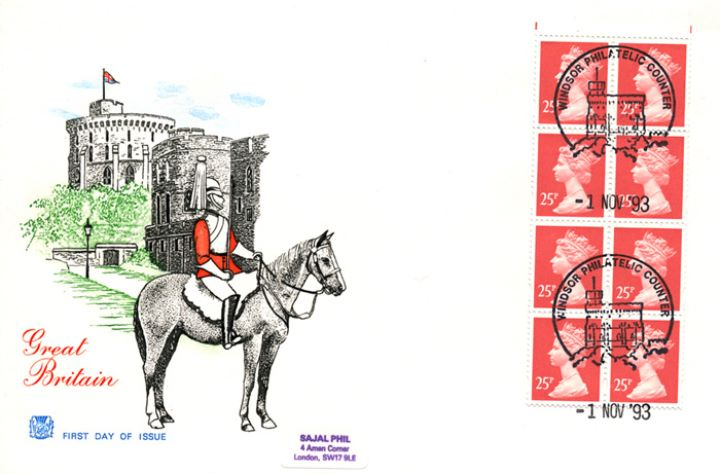 Vending: New Design: £2 Postal Vehicles 1 (Motorised cycle), Windsor Castle