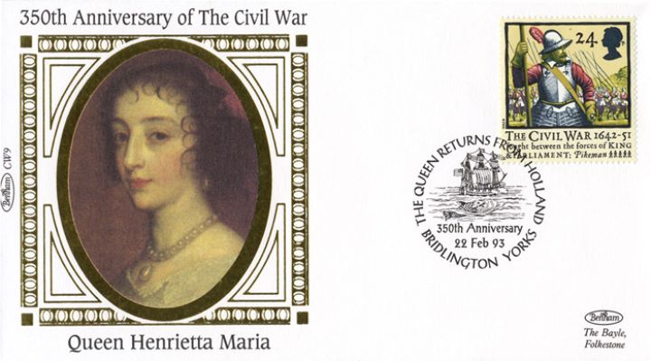 English Civil War, Queen Henrietta Maria