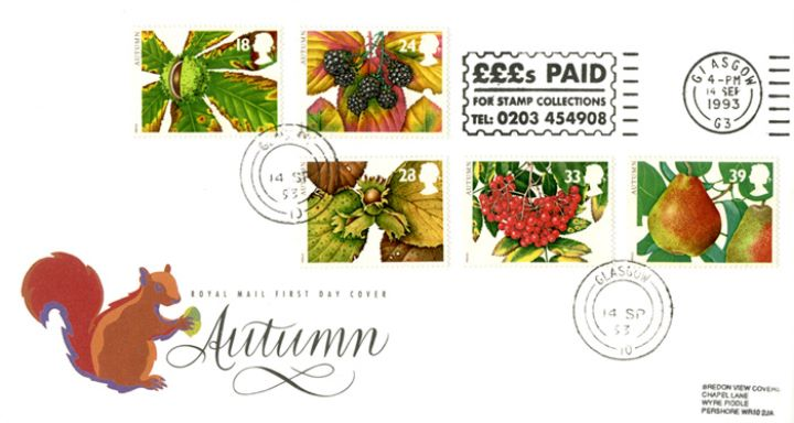 4 Seasons: Autumn, Slogan Postmarks