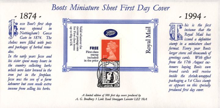 Machins (EP): Boots Greetings Card Label, Boots 1874-1994