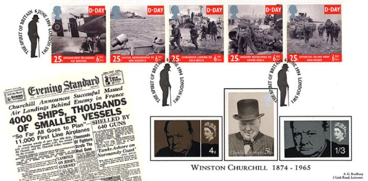 D-Day 50th Anniversary, Spirit of England Cover No.2
