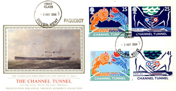 Channel Tunnel, Paddlesteamer off Dover