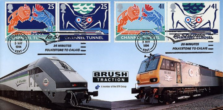 Channel Tunnel, Brush Traction slogan pmk