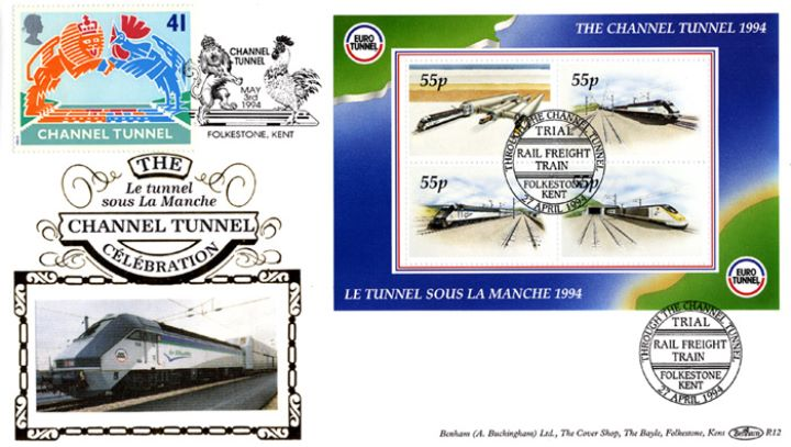 Channel Tunnel, Trial Rail Freight Train