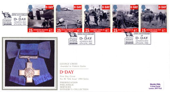 D-Day 50th Anniversary, George Cross awarded to Vilolette Szabo