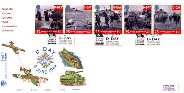 D-Day 50th Anniversary, Tanks, Boats and Aircraft