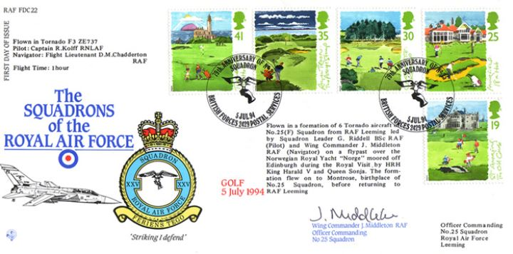 Golf, Squadrons of the Royal Air Force