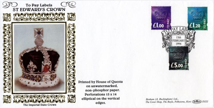 1p to £5 [To Pay Labels], The Imperial State Crown