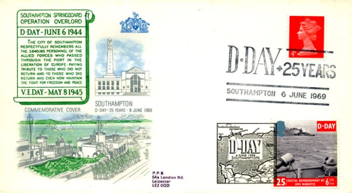 D-Day 50th Anniversary, Double Dated Cover