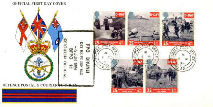 D-Day 50th Anniversary, Postal & Courier Services