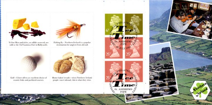 PSB: N. Ireland - Pane 2, Golf and Fishing