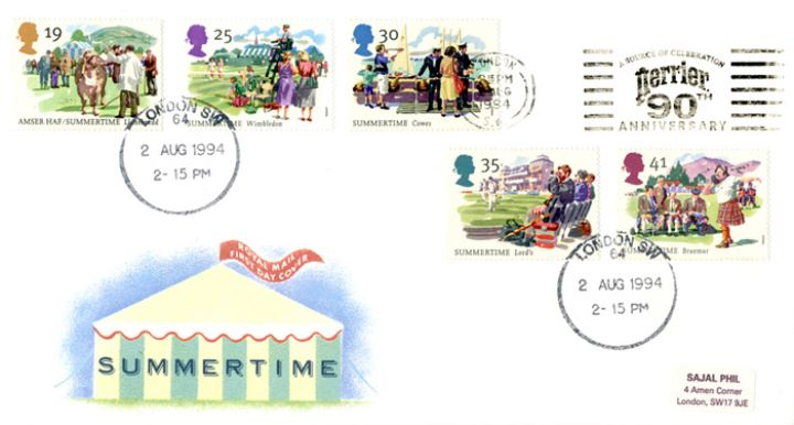 4 Seasons: Summer, Slogan Postmarks
