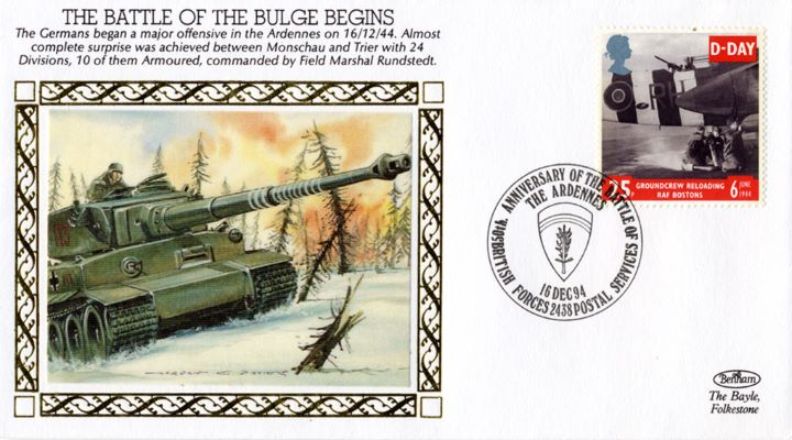 The Battle of The Bulge Begins, 24 Divisions, 10 Armoured, commanded by Field Marshal Rundstedt