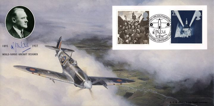 Peace and Freedom, Spitfire VE stamps