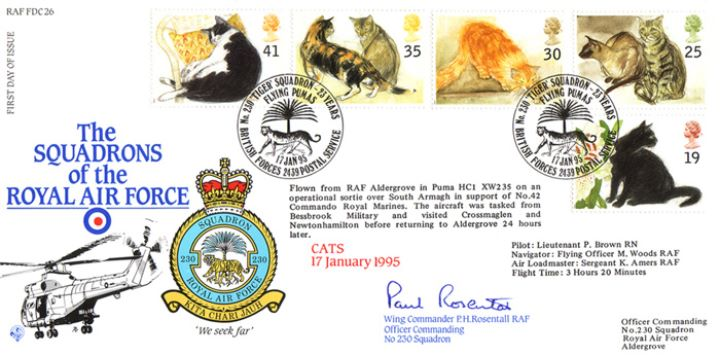 Cats, Squadrons of the Royal Air Force
