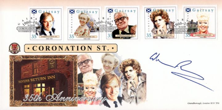 Coronation Street, Rovers Return signed by Ken Barlow