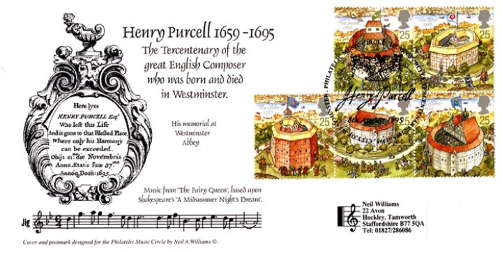 Shakespeare's Globe, Henry Purcell 1659-1695