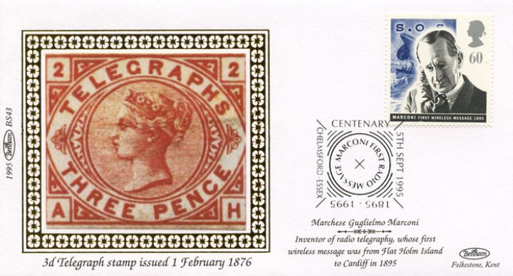 Communications, Three Penny Telegraph Stamp