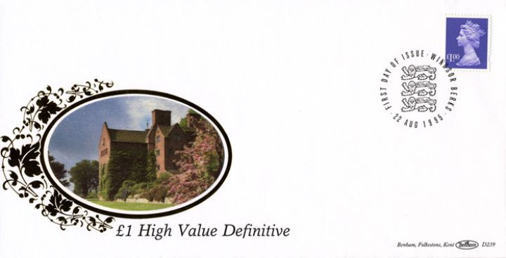 Machins £1 (small format) & £3 Castles, Country House