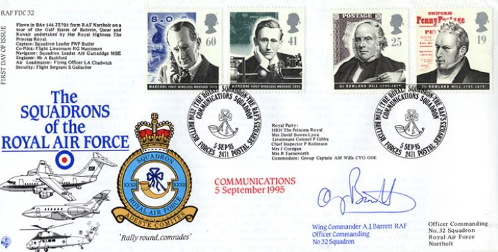 Communications, Squadrons of the Royal Air Force