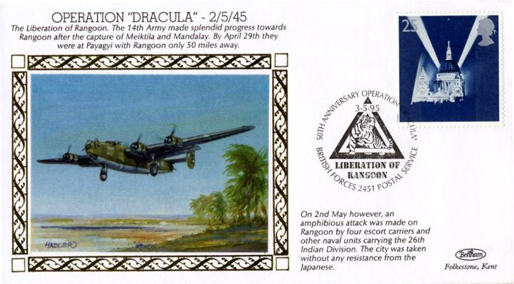 Operation Dracula, The Liberation of Rangoon