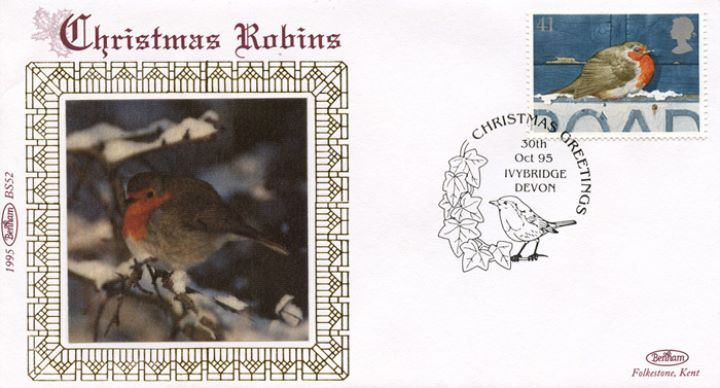 Christmas 1995, Robin in winter