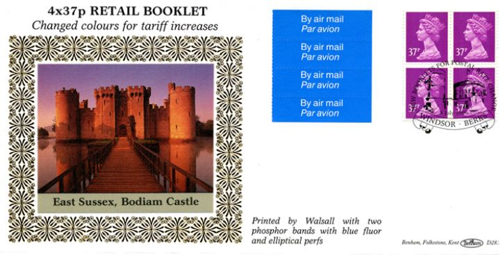 Window: New Contents: Airmail Olympics £1.48 , Bodiam Castle