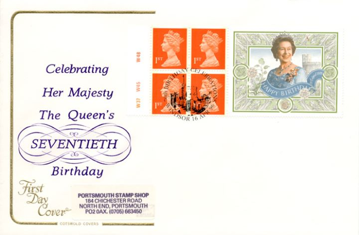 Window: Queen's 70th Birthday, Seventieth Birthday