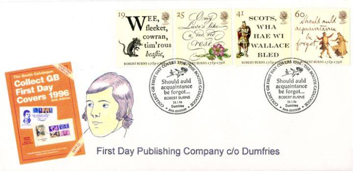 Robert Burns Bicentenary, FDC Catalogue