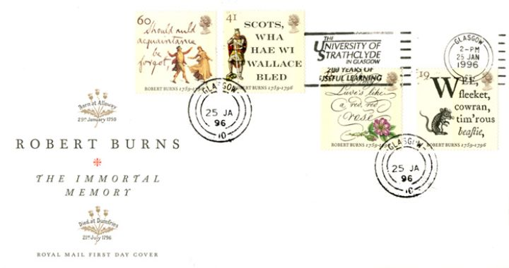 Robert Burns Bicentenary, Slogan Postmarks