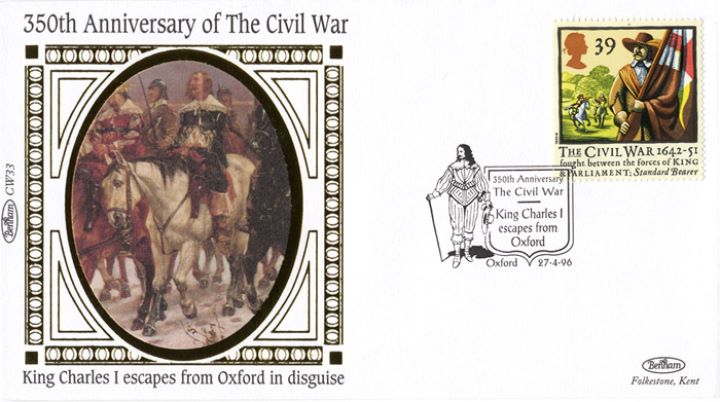English Civil War, Charles I escapes from Oxford in disguise