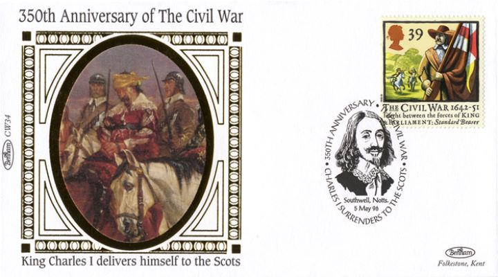 English Civil War, Charles I delivers himself to the Scots