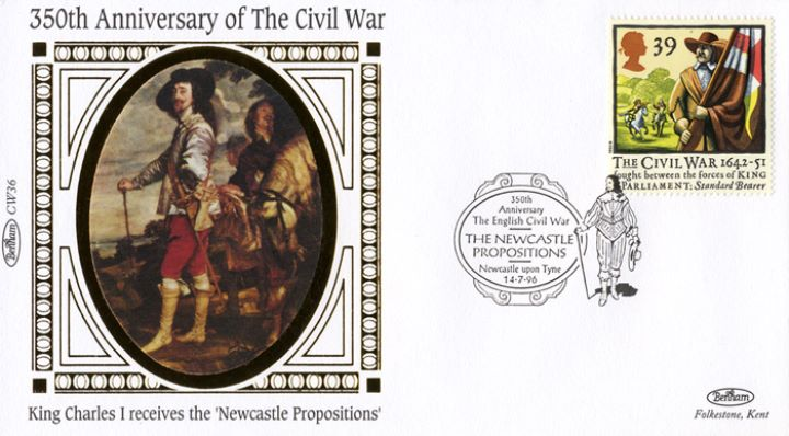 English Civil War, King Charles receives the 'Newcastle Propositions'