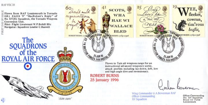 Robert Burns Bicentenary, Squadrons of the Royal Air Force