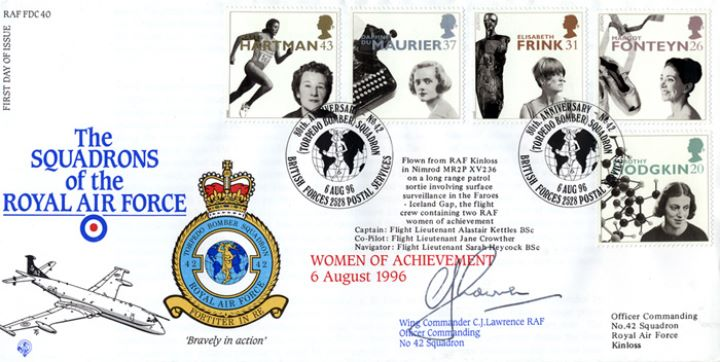 Women of Achievement, Squadrons of the Royal Air Force