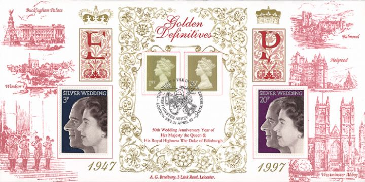 Machins (EP): Gold Definitives: 1st & 26p, Royal Residences