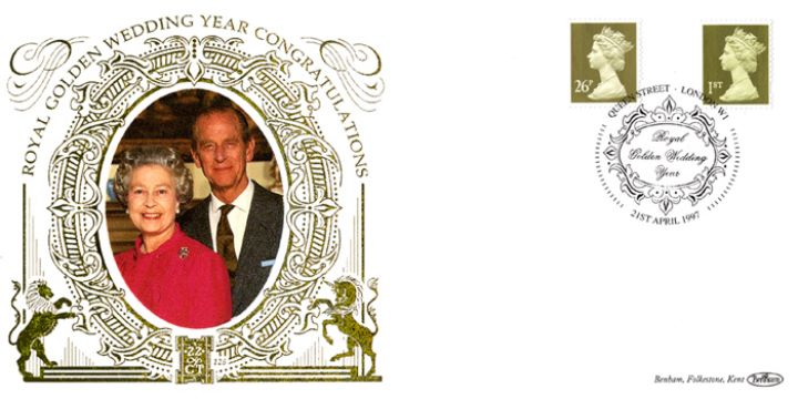 Machins (EP): Gold Definitives: 1st & 26p, Queen & Duke of Edinburgh