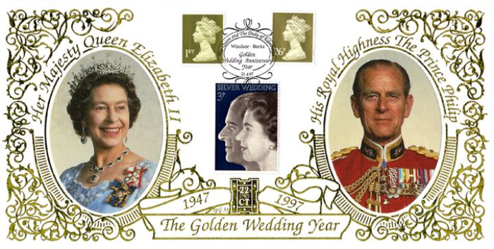 Machins (EP): Gold Definitives: 1st & 26p, The Queen & Prince Philip