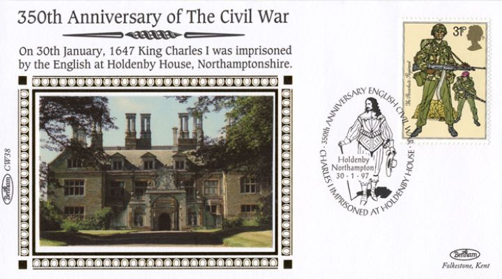 English Civil War, Charles I imprisoned at Holdenby Hall