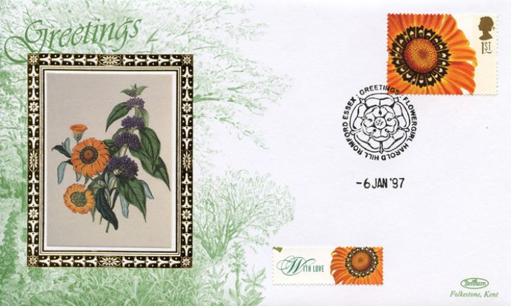 Flower Paintings (Greetings), Gazania spendens