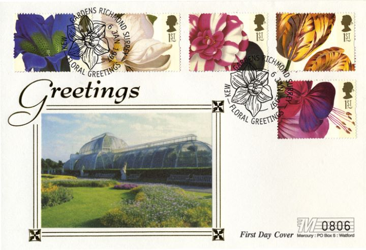 Flower Paintings (Greetings), Glasshouse at Kew