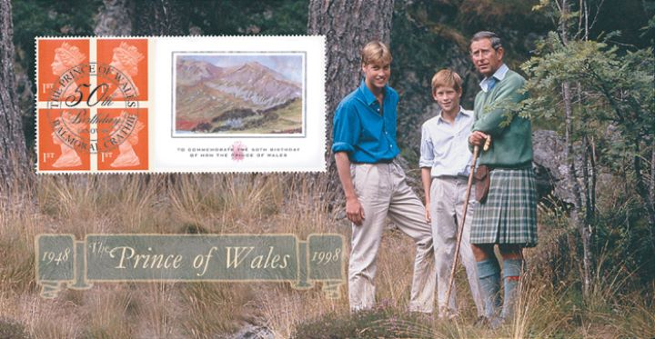 Window: Prince of Wales Paintings, Charles with William & Harry