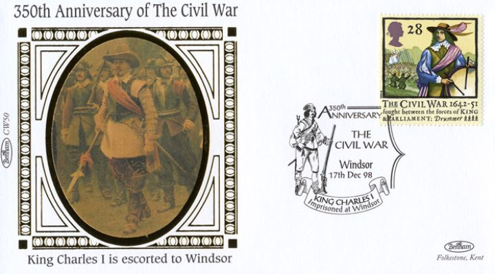 English Civil War, Charles I escorted to Windsor