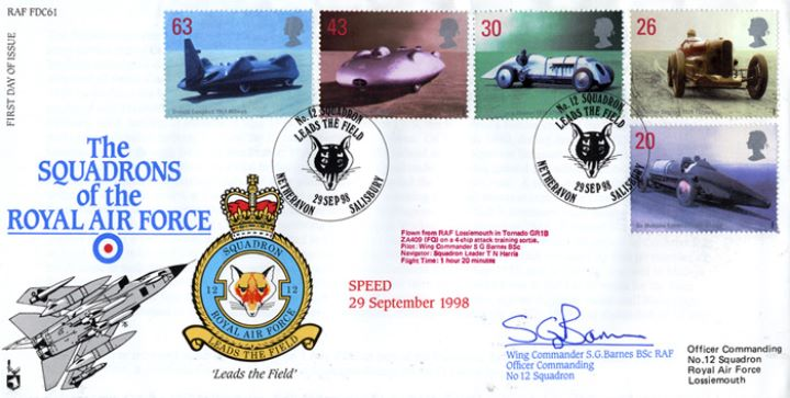 Speed, Squadrons of the Royal Air Force