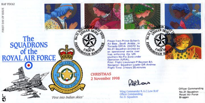 Christmas 1998, Squadrons of the Royal Air Force