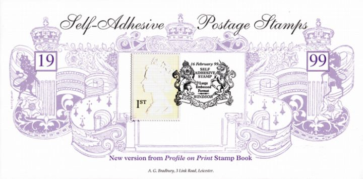 Machins: 1st Large format Embossed, Large White Embossed (mauve)