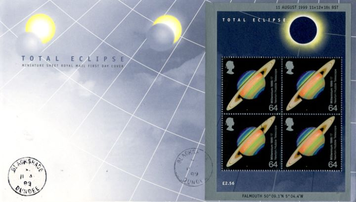 Solar Eclipse: Miniature Sheet, CDS Postmarks