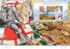 Celebrating England: Miniature Sheet St George and the Dragon Producer: Westminster Series: Artist Signed