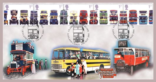 Double Decker Buses: Stamps, Commercial Vehicle Museum